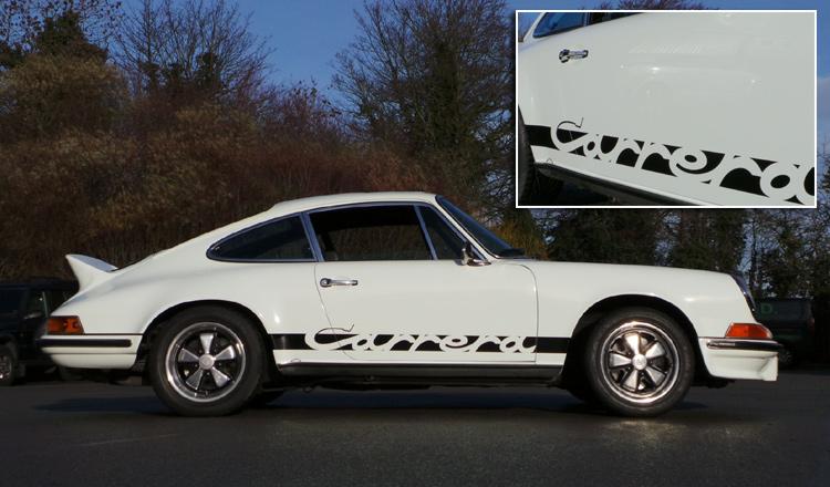 Porsche Decals, Classic Early Porsche 911 Carrera Graphics