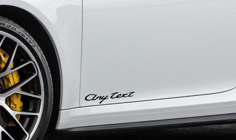 Porsche Cayman Decals, Porsche 981 Graphics, Stripes